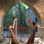 Harfenduo in der Kirchenruine Abterode mit Regine Kofler